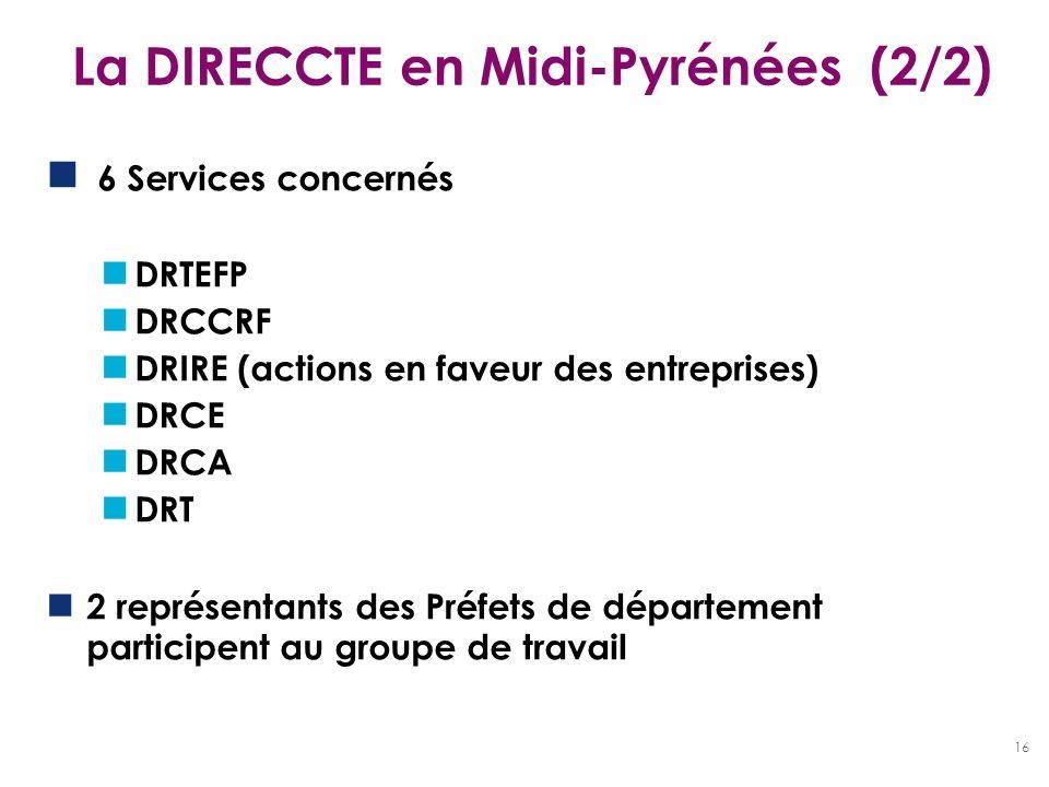 La DIRECCTE en Midi-Pyrénées (2/2)