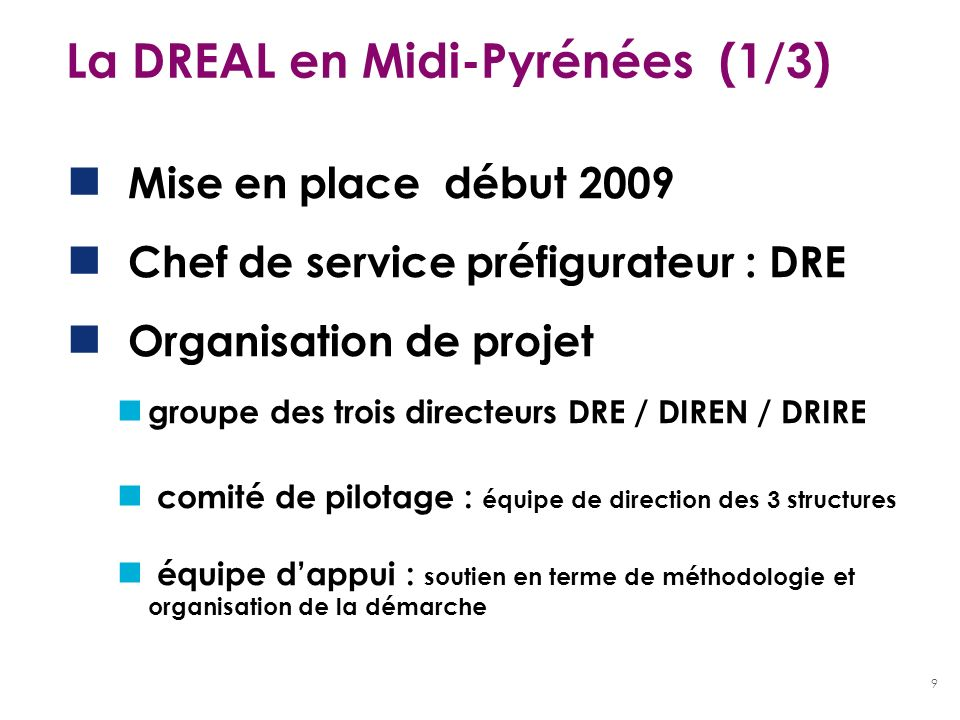 La DREAL en Midi-Pyrénées (1/3)