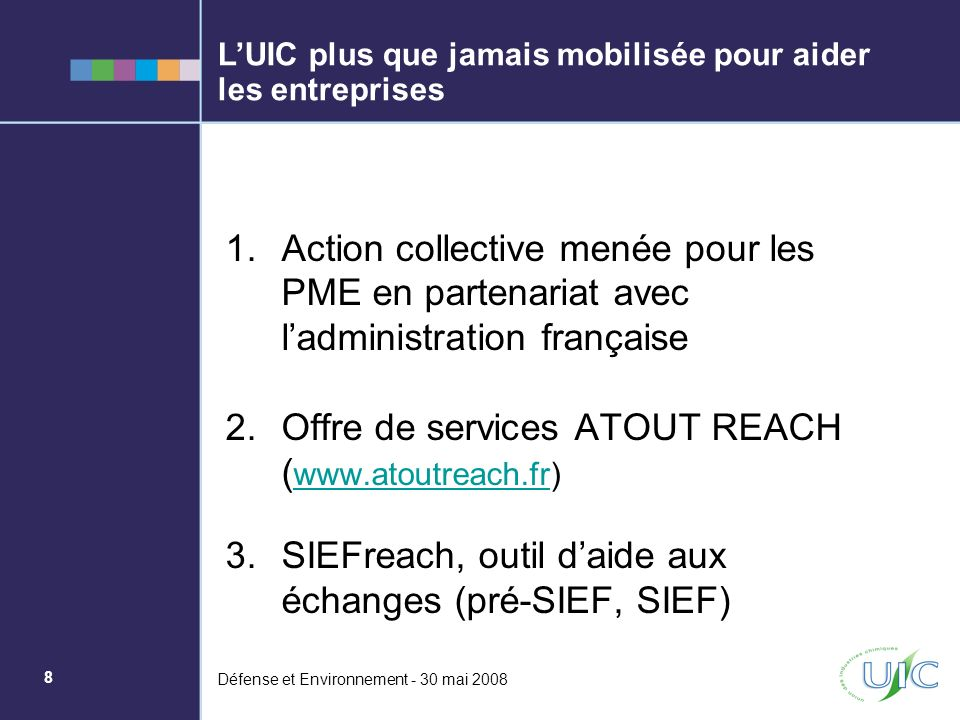 Offre de services ATOUT REACH (www.atoutreach.fr)