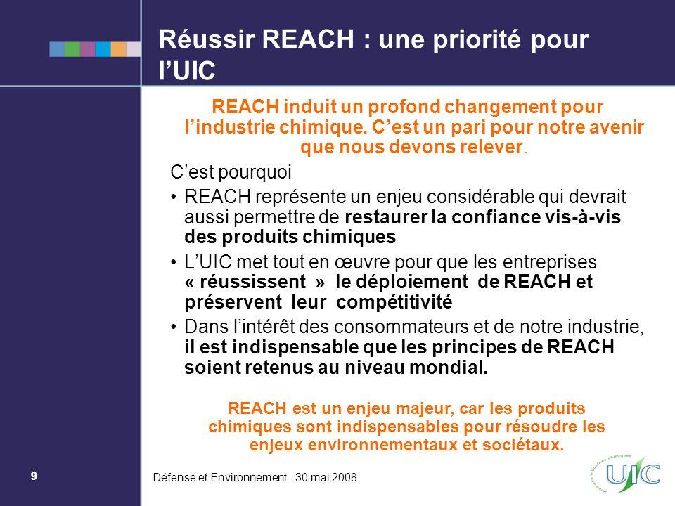 Réussir REACH : une priorité pour l'UIC