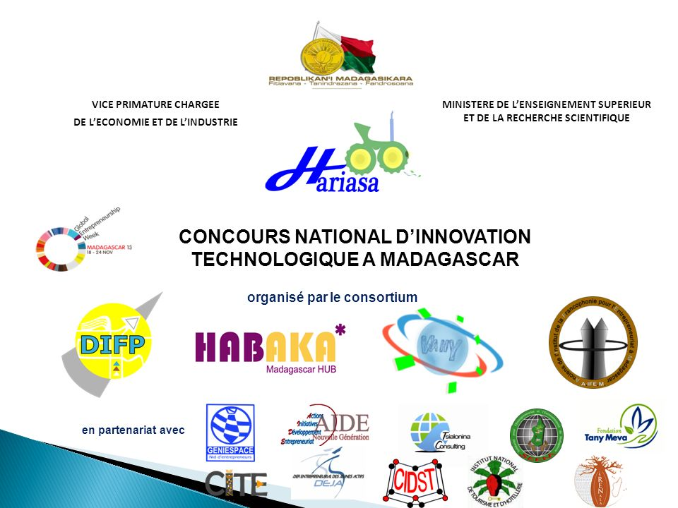 CONCOURS NATIONAL D'INNOVATION TECHNOLOGIQUE A MADAGASCAR