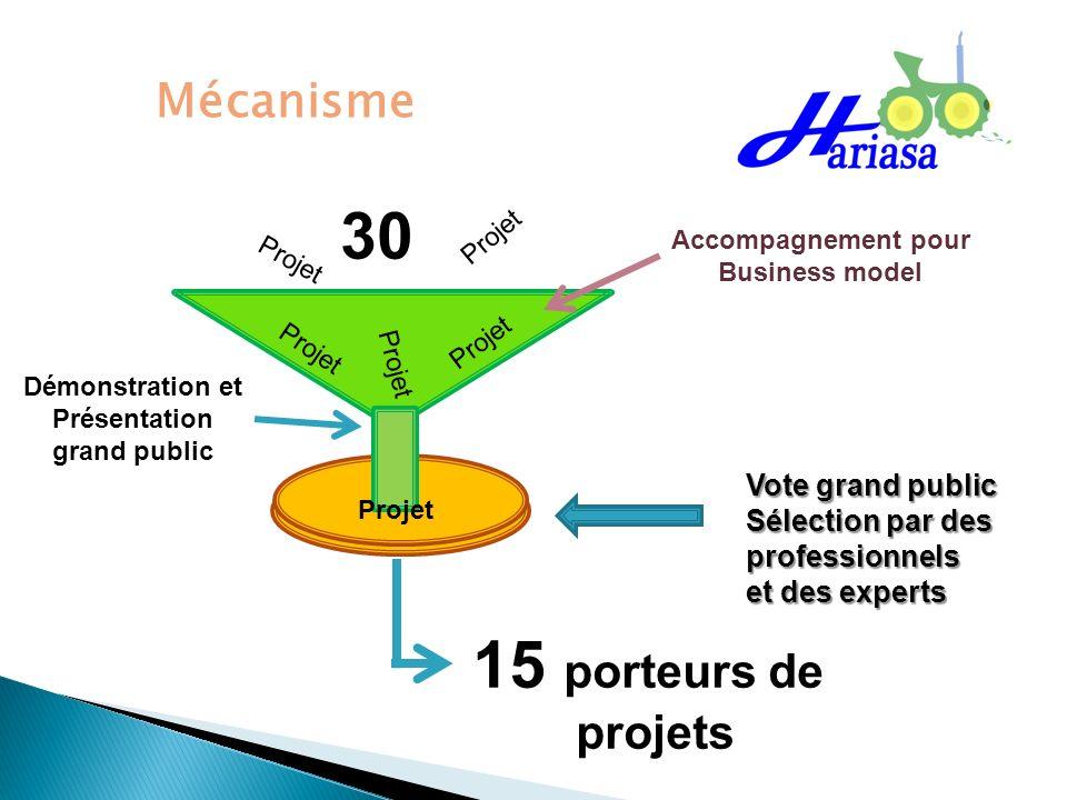 30 15 porteurs de Mécanisme projets Vote grand public