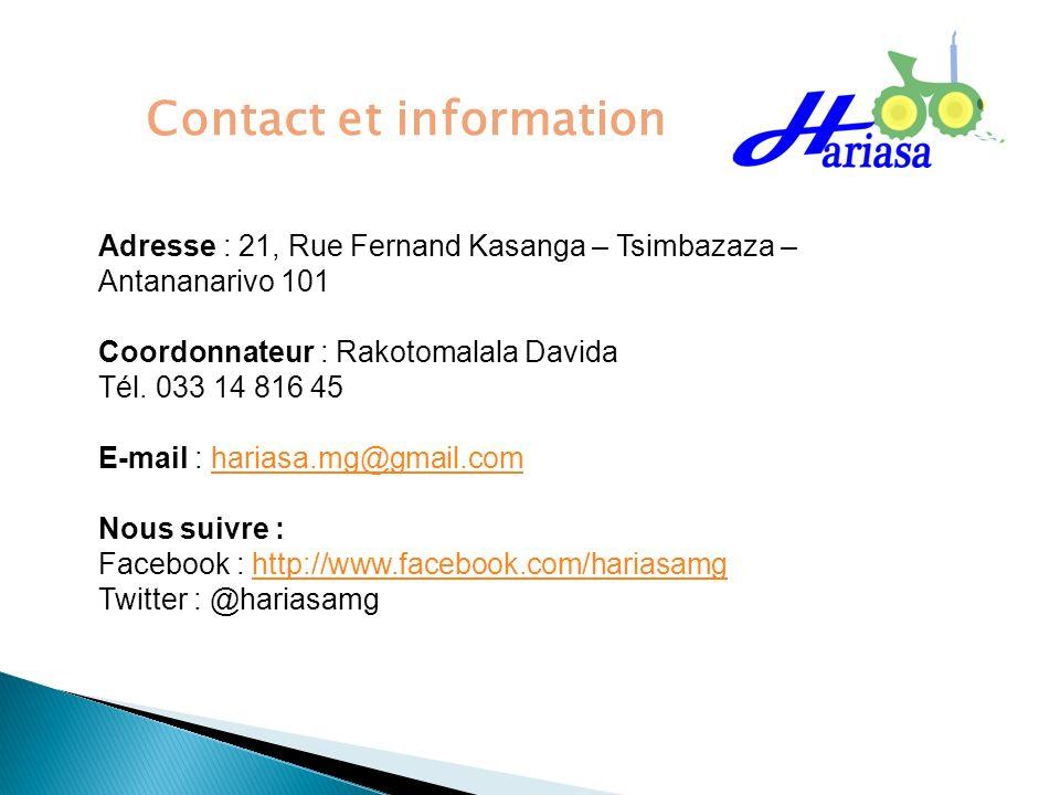 Contact et information