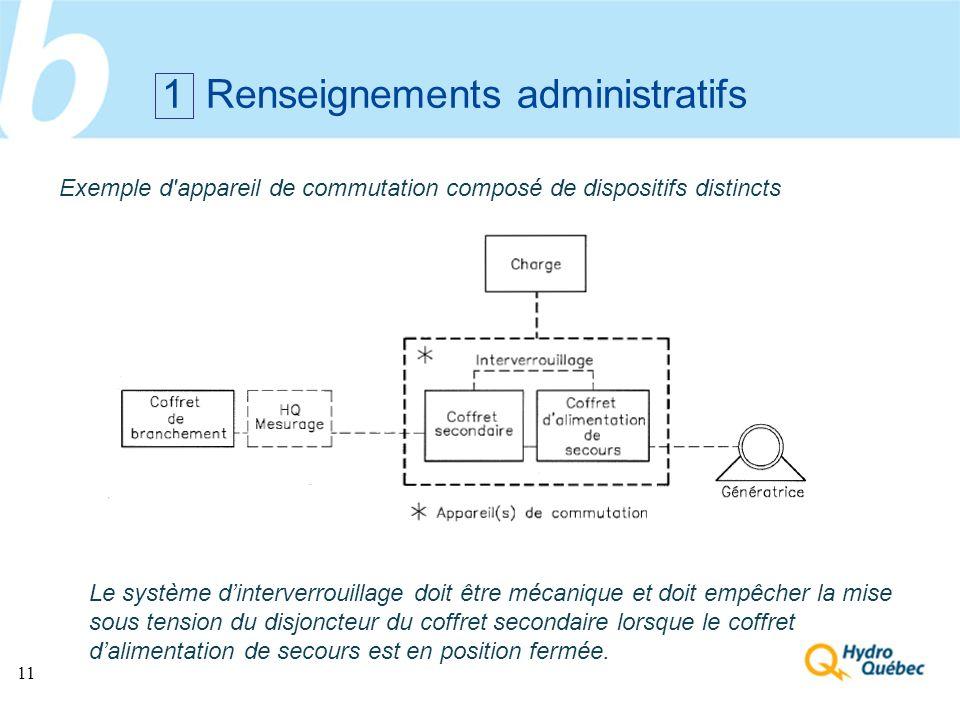 1 Renseignements administratifs