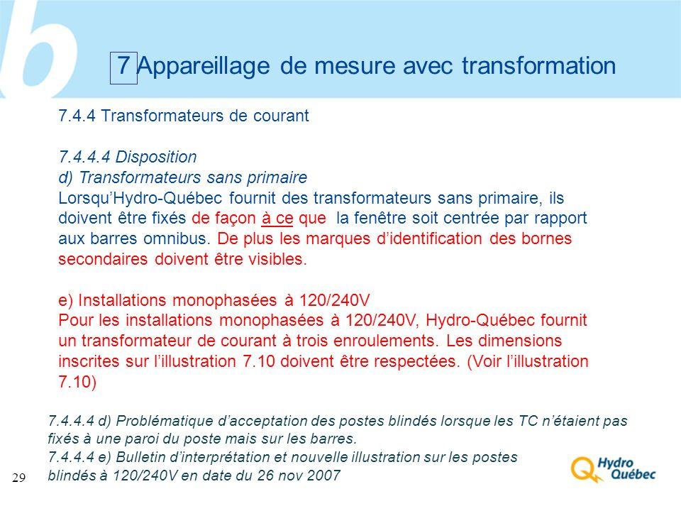 7 Appareillage de mesure avec transformation