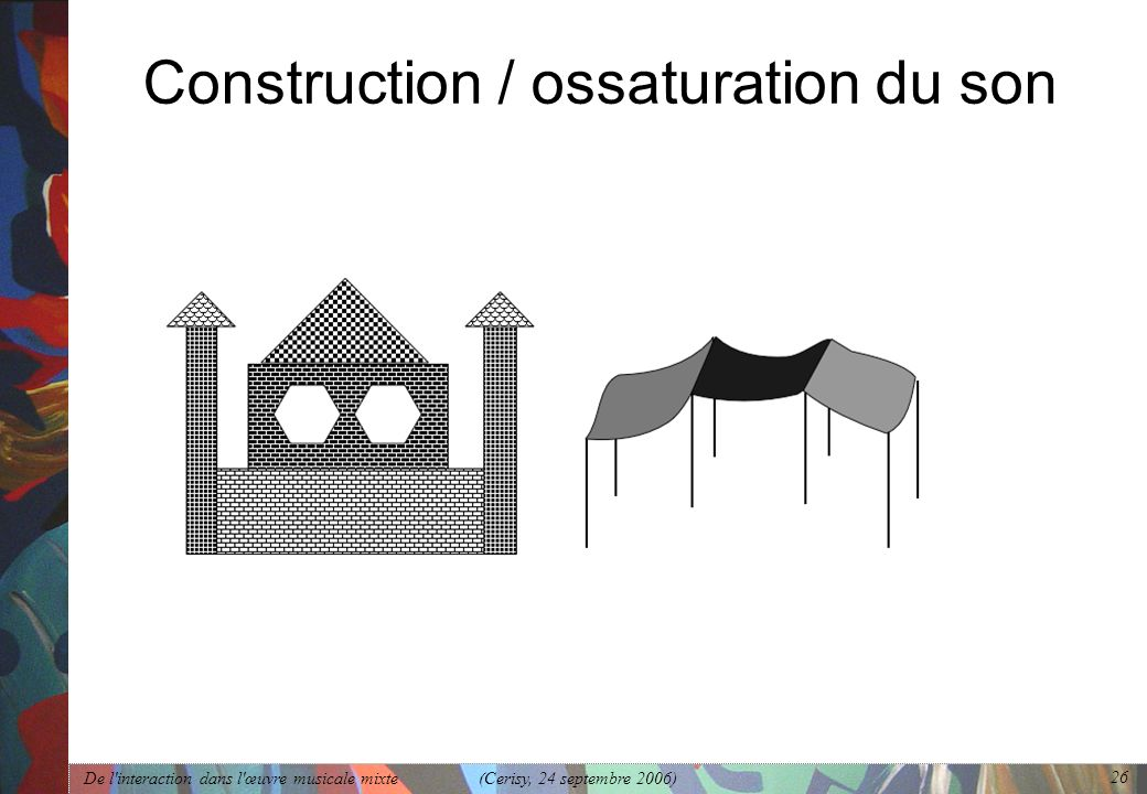 Construction / ossaturation du son