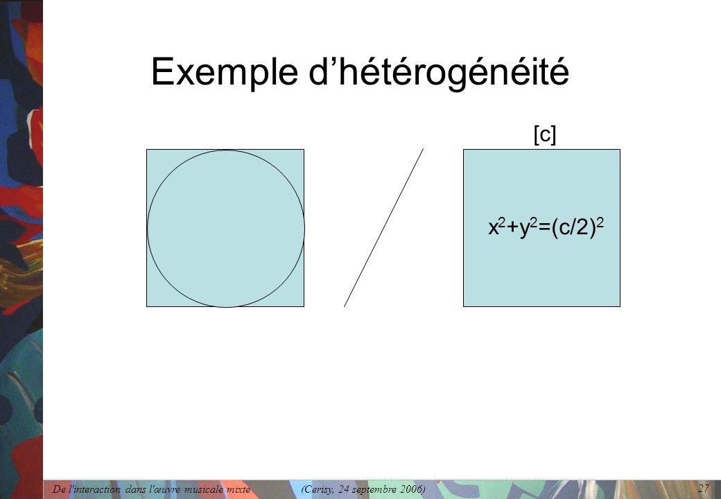 Exemple d'hétérogénéité