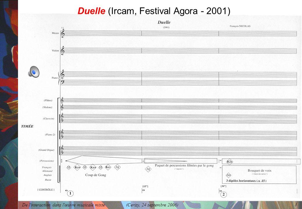 Duelle (Ircam, Festival Agora - 2001)