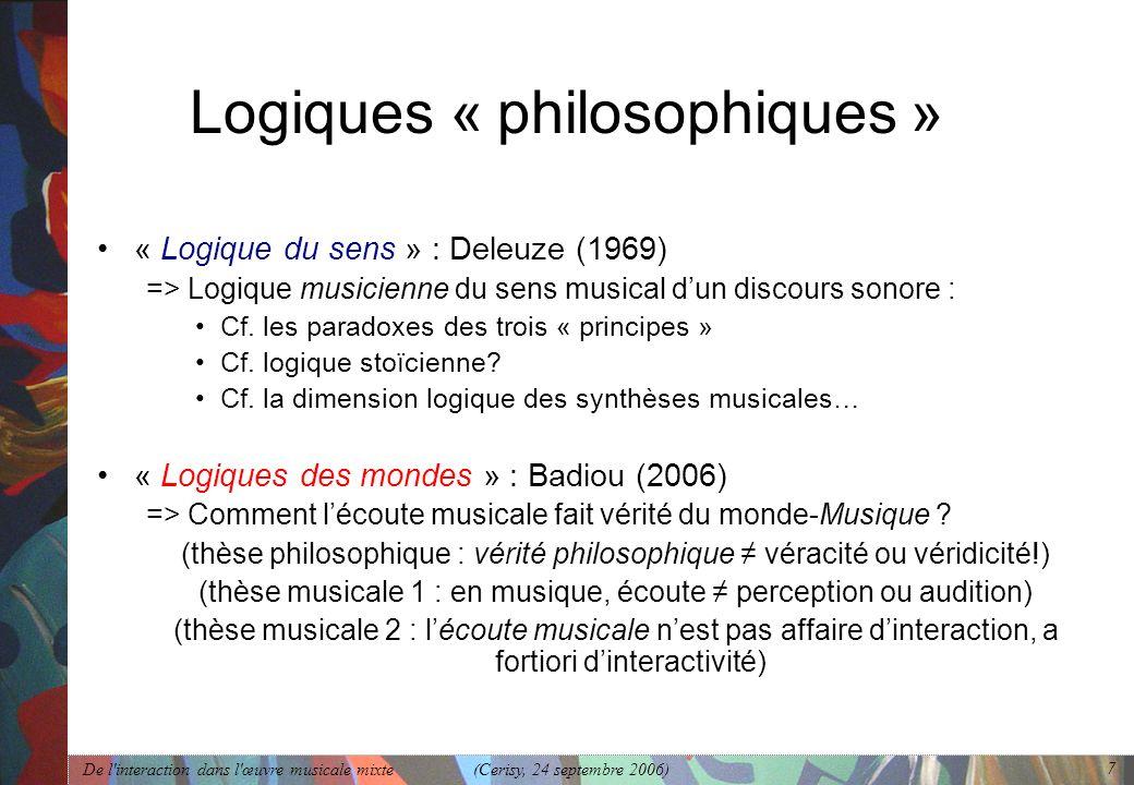 Logiques « philosophiques »