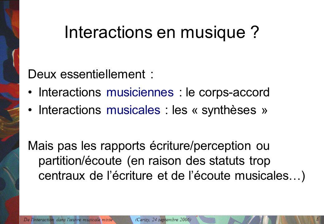 Interactions en musique