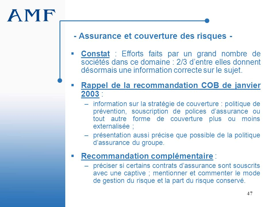 - Assurance et couverture des risques -
