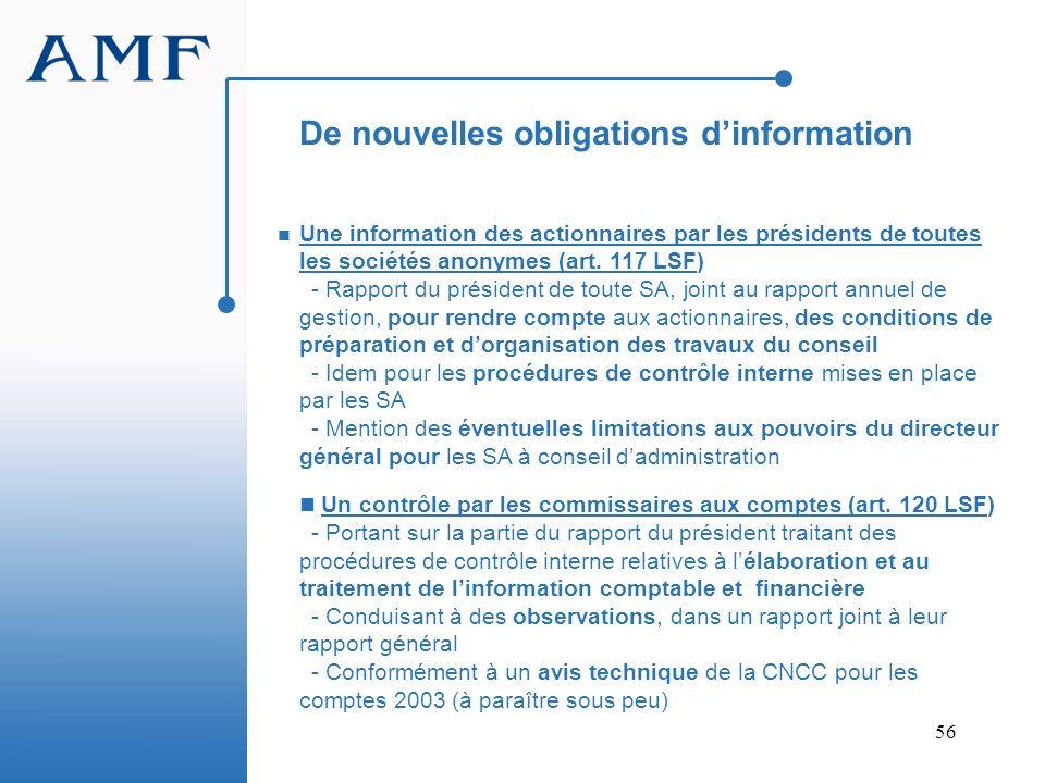 De nouvelles obligations d'information