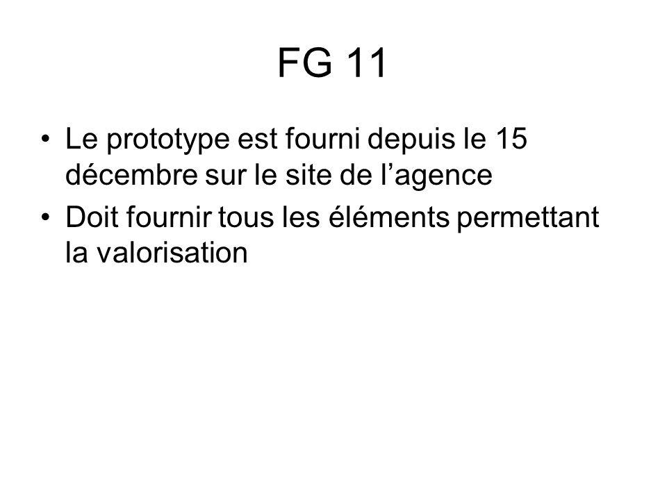 FG 11 Le prototype est fourni depuis le 15 décembre sur le site de l'agence.