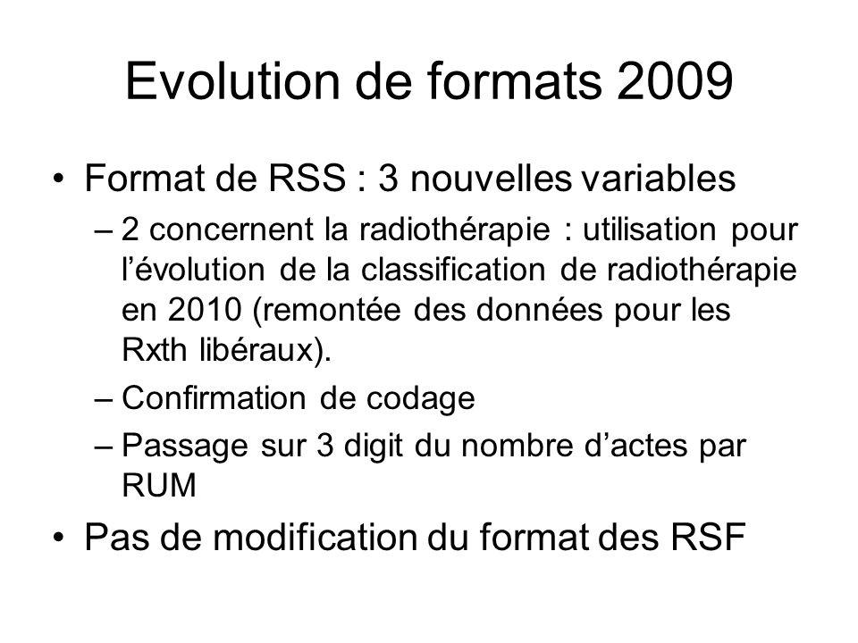 Evolution de formats 2009 Format de RSS : 3 nouvelles variables