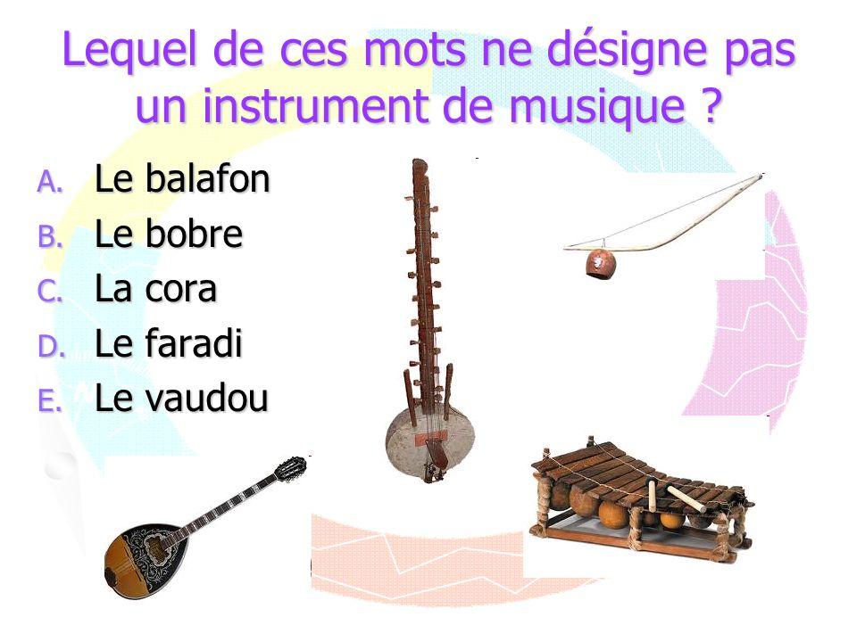 Lequel de ces mots ne désigne pas un instrument de musique