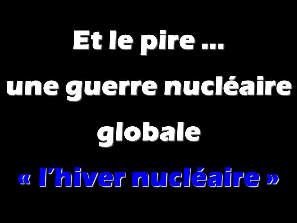 Et le pire … une guerre nucléaire globale « l'hiver nucléaire »