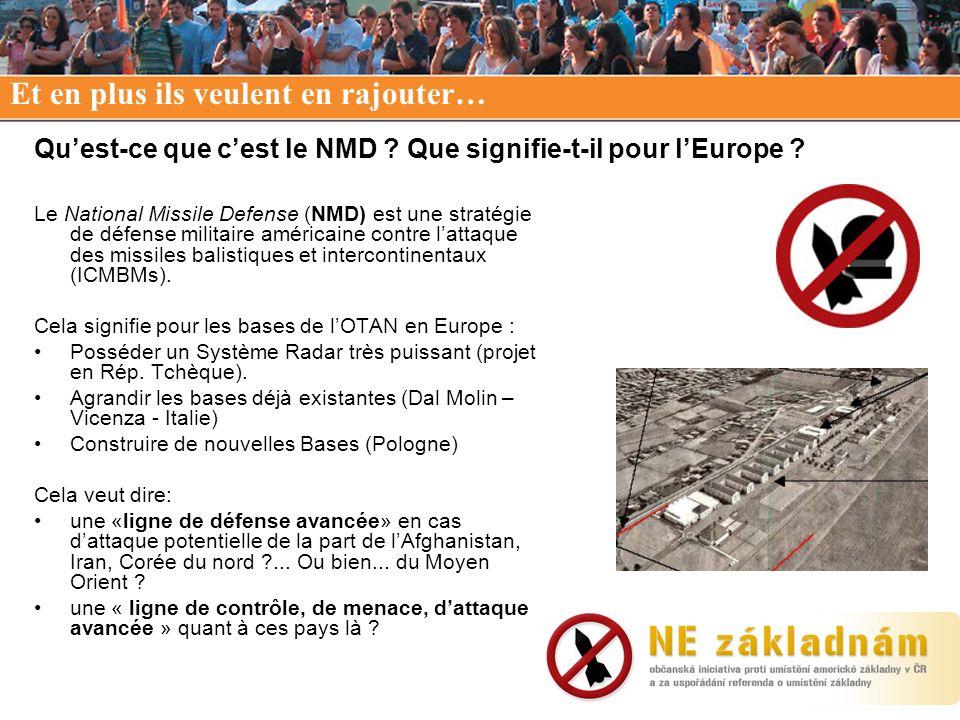 Qu'est-ce que c'est le NMD Que signifie-t-il pour l'Europe