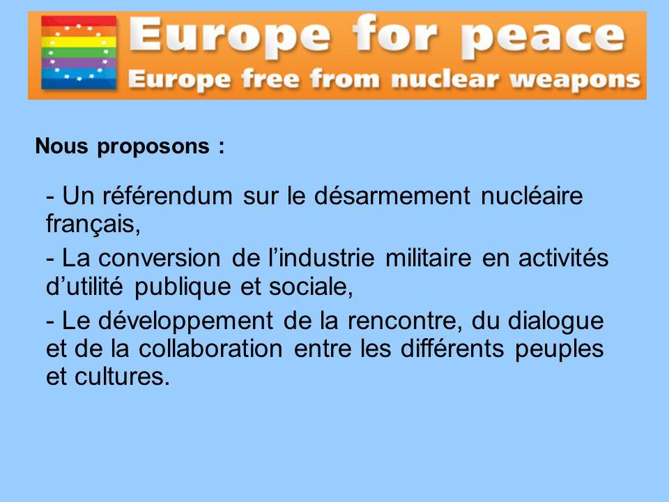 Un référendum sur le désarmement nucléaire français,