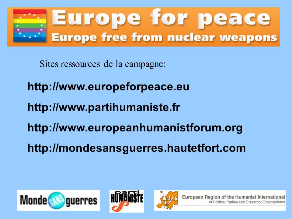 http://www.europeforpeace.eu http://www.partihumaniste.fr