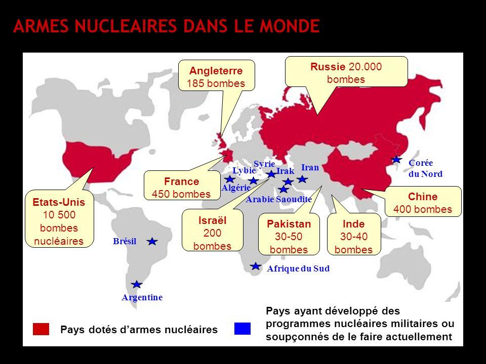 Etats-Unis 10 500 bombes nucléaires
