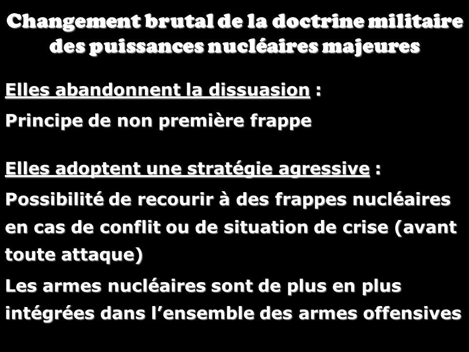 Changement brutal de la doctrine militaire des puissances nucléaires majeures