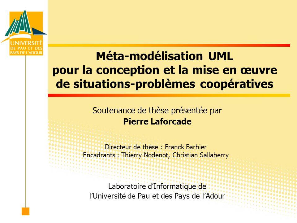 Méta-modélisation UML pour la conception et la mise en œuvre de situations-problèmes coopératives