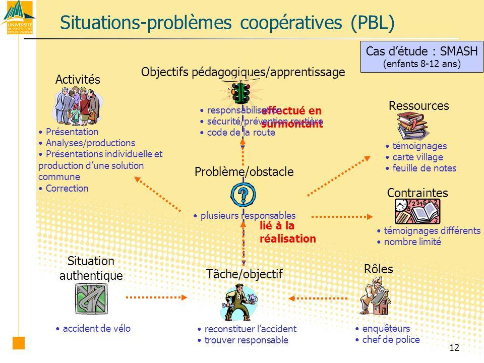 Situations-problèmes coopératives (PBL)