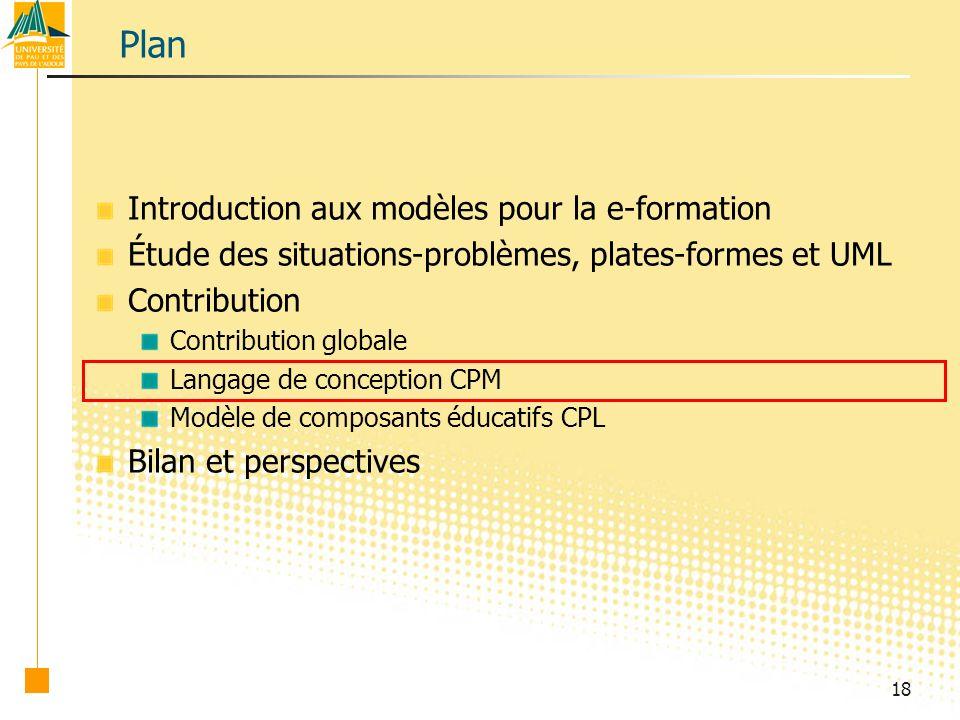 Plan Introduction aux modèles pour la e-formation