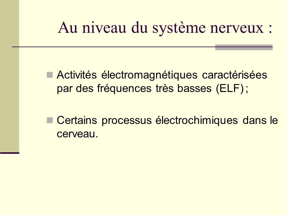 Au niveau du système nerveux :