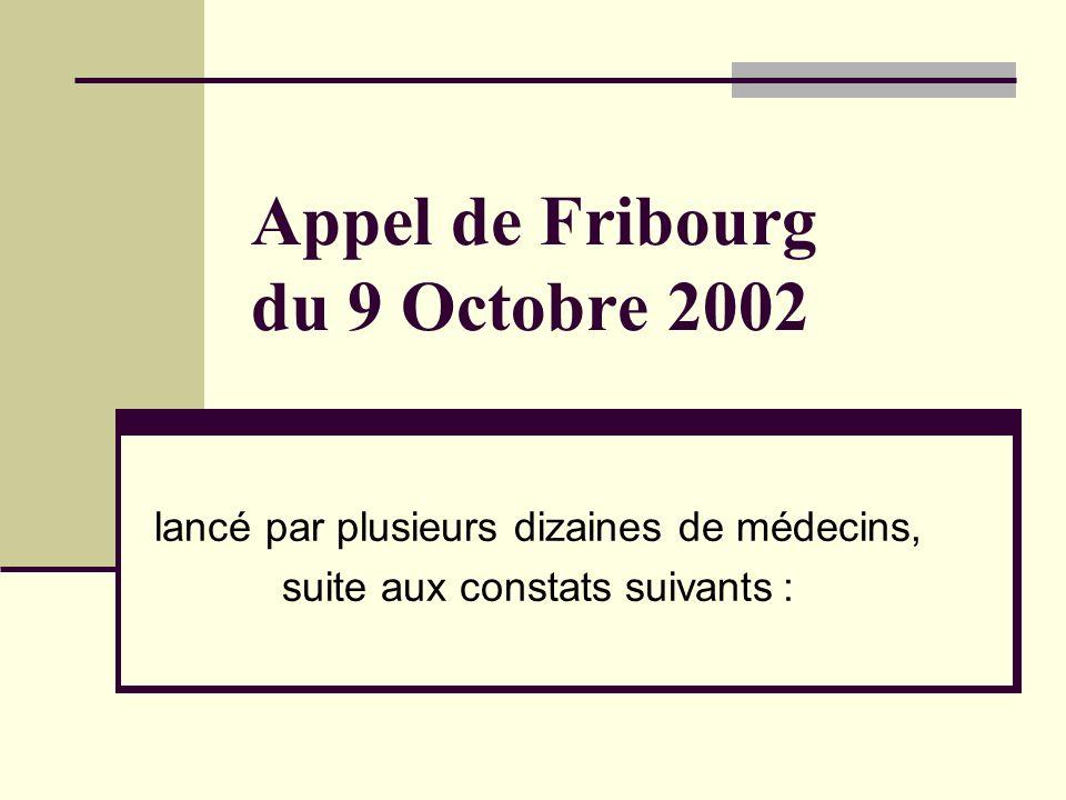 Appel de Fribourg du 9 Octobre 2002