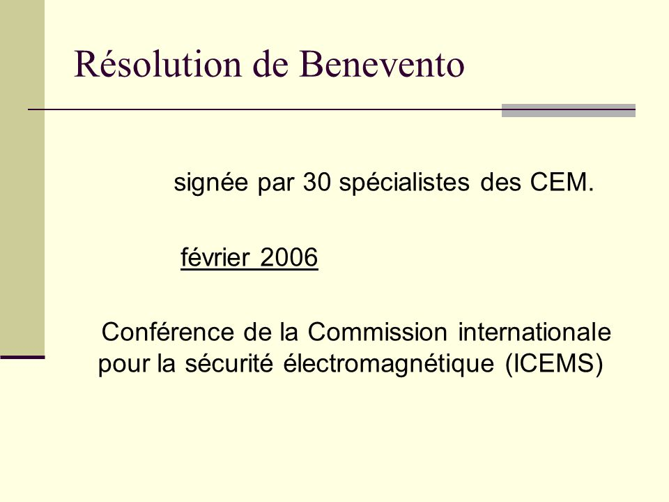 Résolution de Benevento
