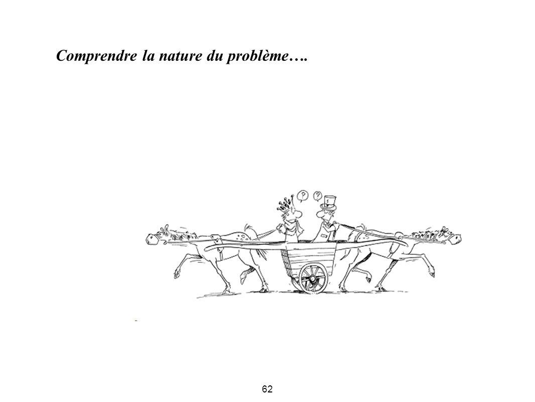 Comprendre la nature du problème….