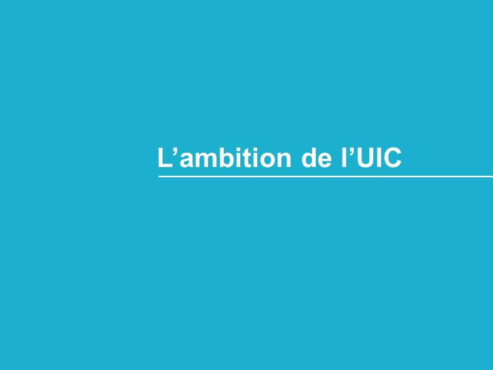 L'ambition de l'UIC