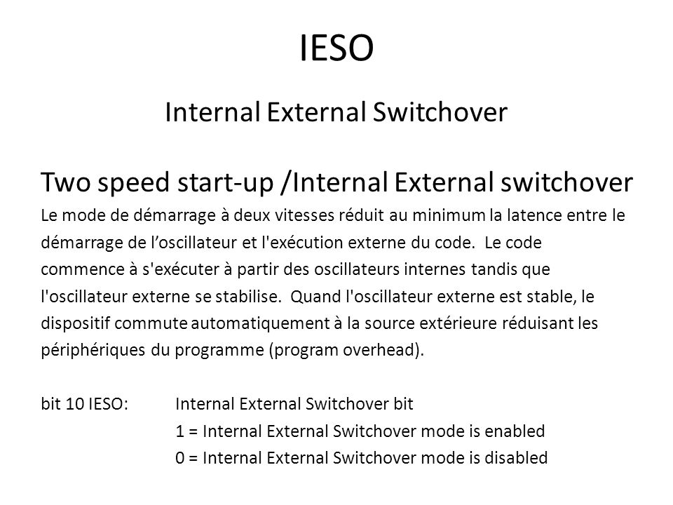 Internal External Switchover