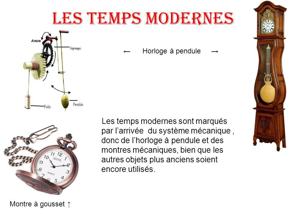 Les temps modernes ← Horloge à pendule →