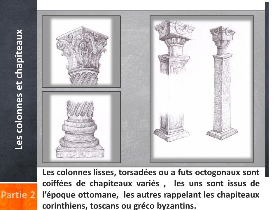 Les colonnes et chapiteaux