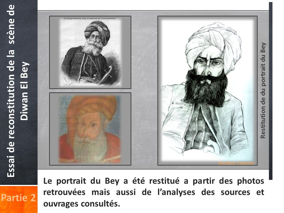 Essai de reconstitution de la scène de Diwan El Bey Partie 2