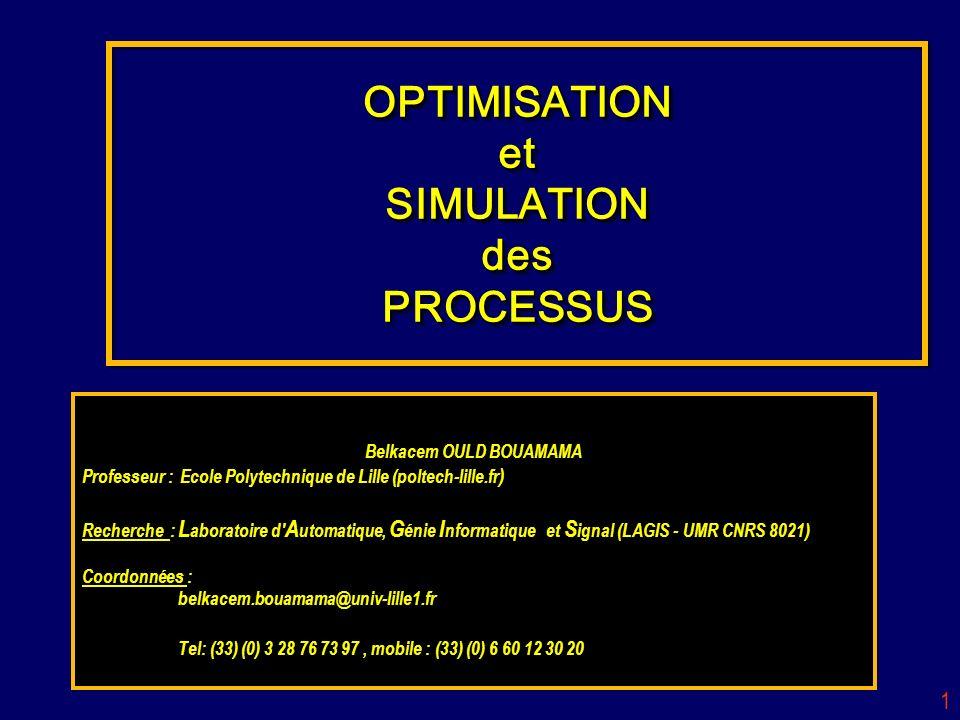 OPTIMISATION et SIMULATION des PROCESSUS