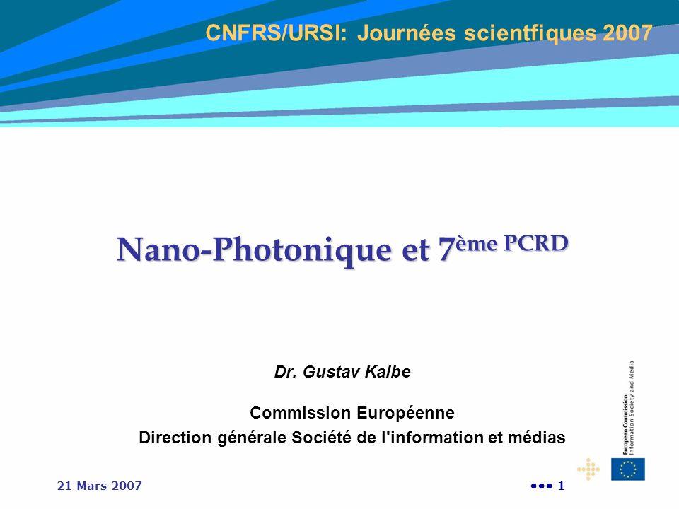 Nano-Photonique et 7ème PCRD