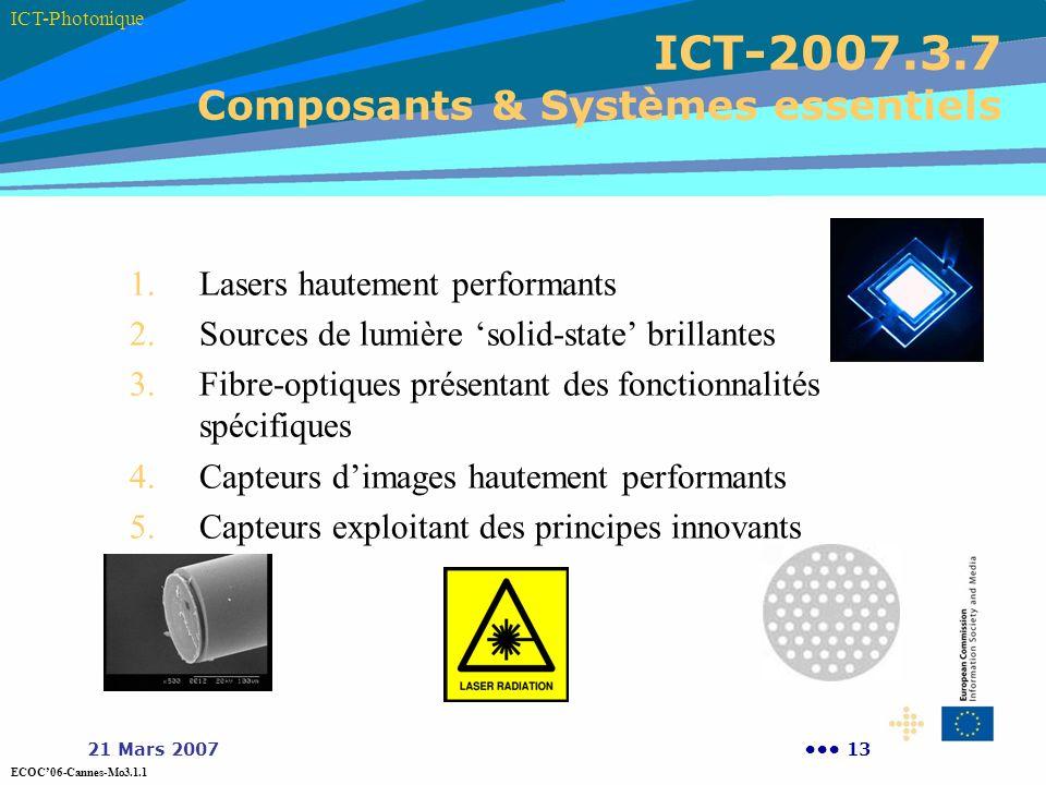 ICT-2007.3.7 Composants & Systèmes essentiels
