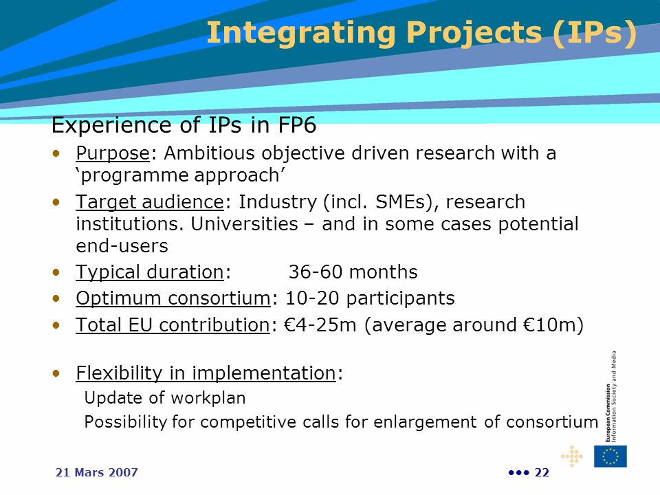 Integrating Projects (IPs)
