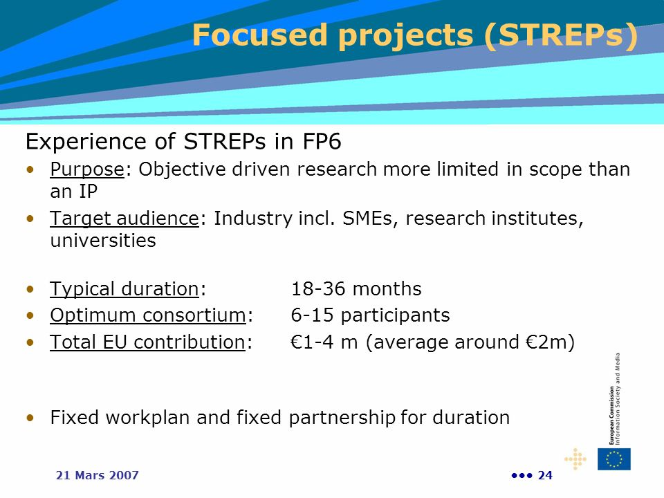 Focused projects (STREPs)