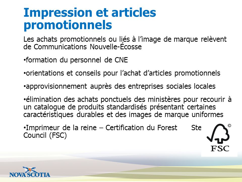 Impression et articles promotionnels