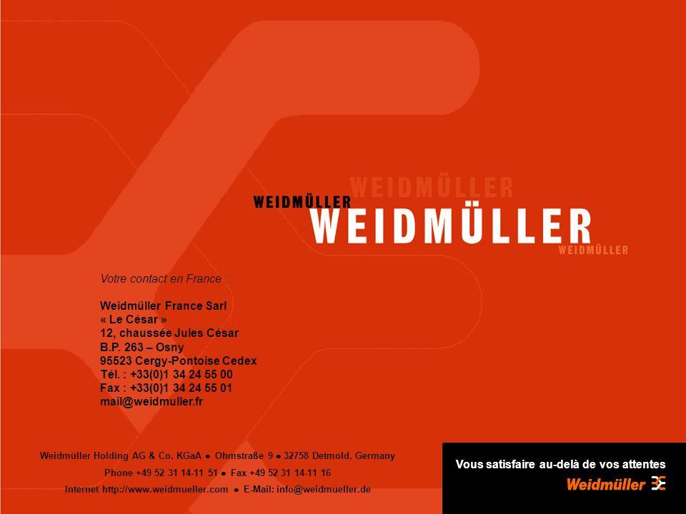 Internet http://www.weidmueller.com l E-Mail: info@weidmueller.de