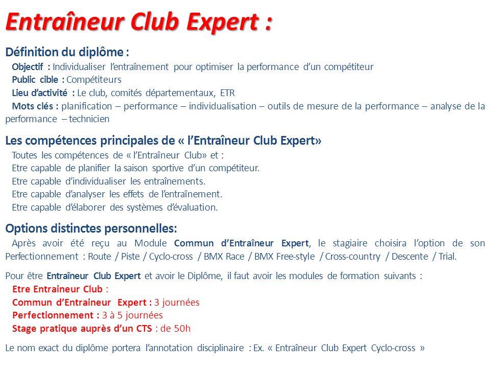 Entraîneur Club Expert :