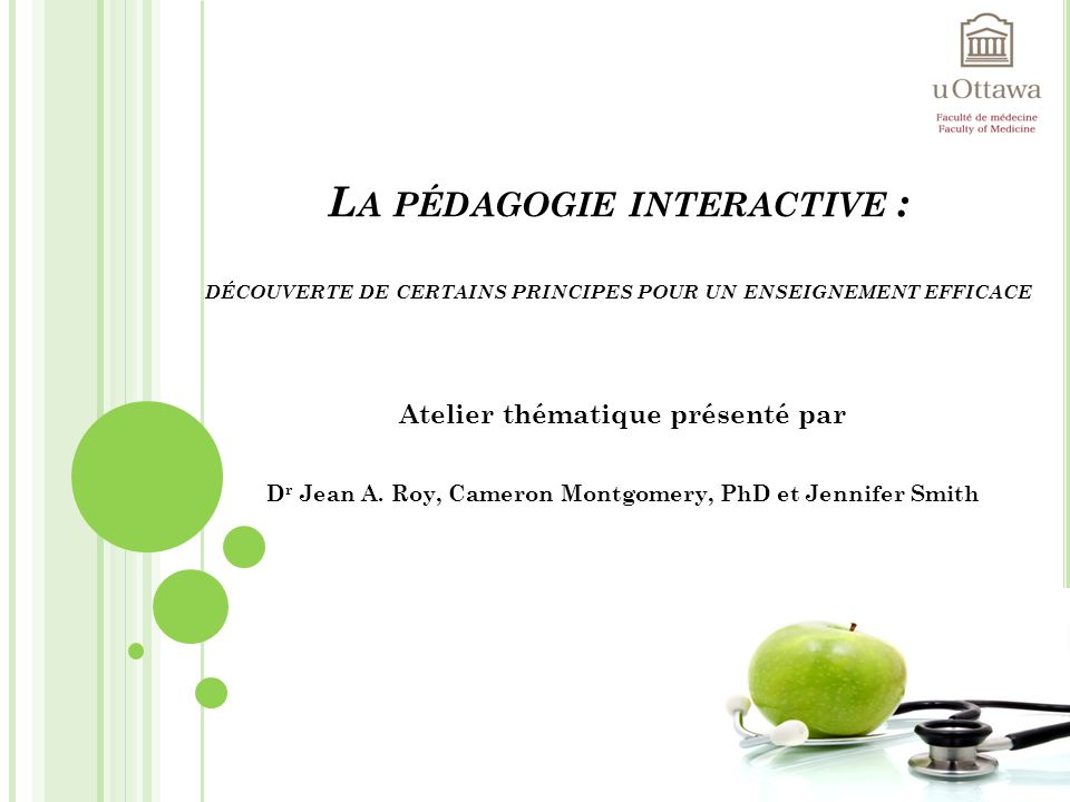 La pédagogie interactive : découverte de certains principes pour un enseignement efficace