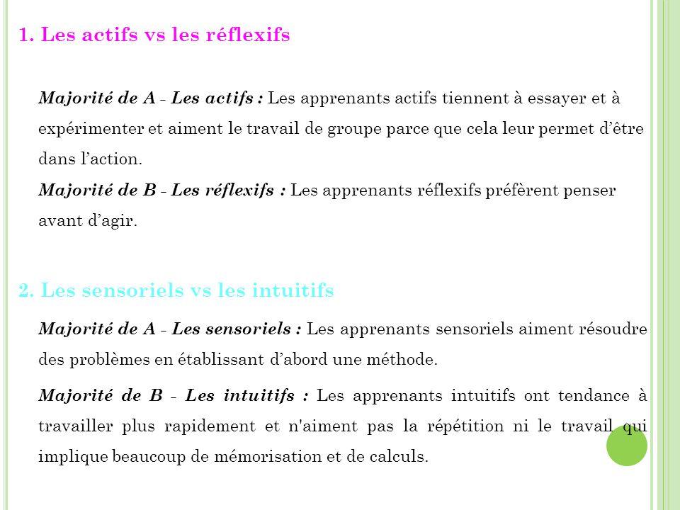 2. Les sensoriels vs les intuitifs
