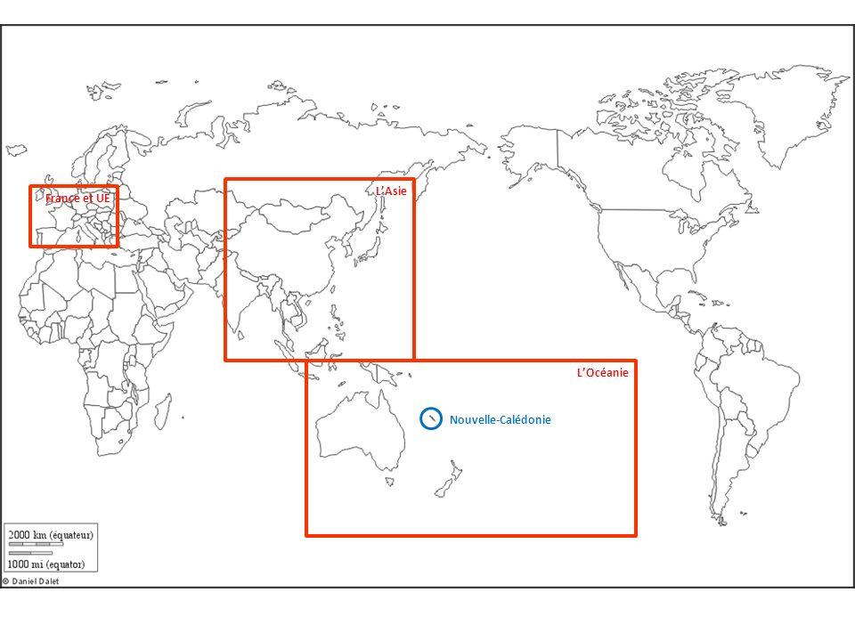 L'Asie France et UE L'Océanie Nouvelle-Calédonie