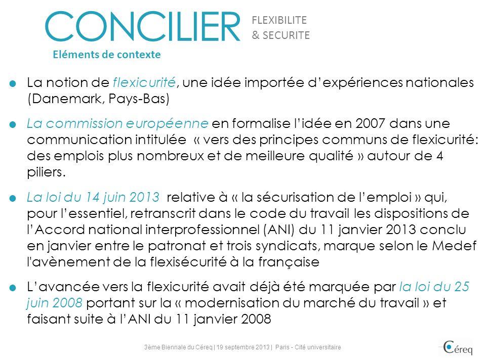 FLEXIBILITE CONCILIER. & SECURITE. Eléments de contexte.