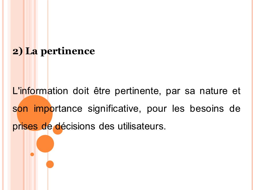 2) La pertinence